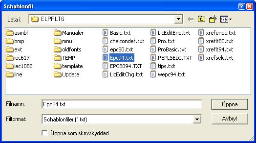 Helpdesk: Välj schablonfil (LT)