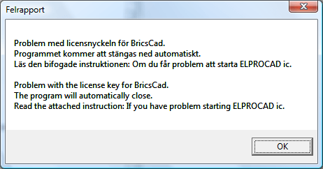 Helpdesk: Problem med licensnyckel