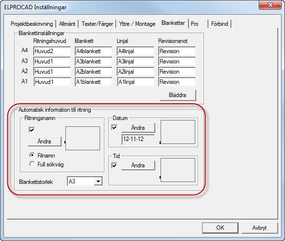Helpdesk: Inställningar - Automatisk information