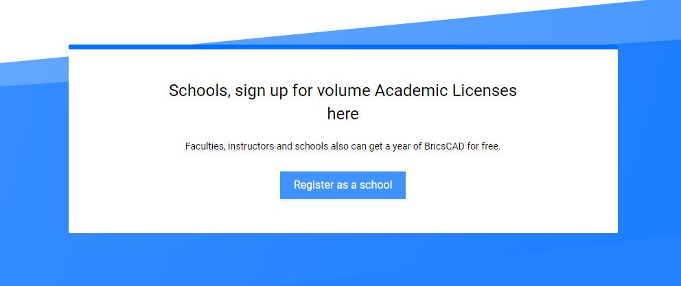 BricsCAD - Register as school